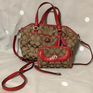Authentic Coach Crossbody set
